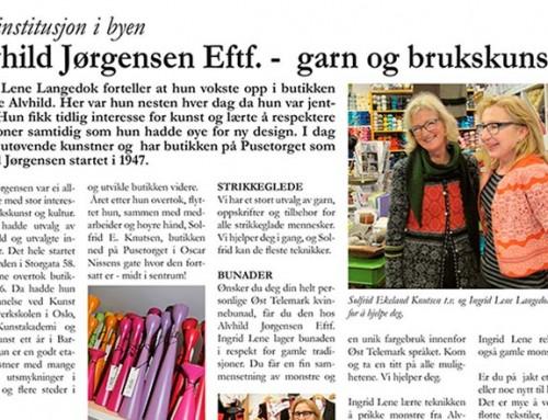Alvhild Jørgensen Eftf. – Garn og brukskunst – En instutisjon i byen!