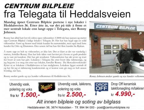Centrum bilpleie fra Telegata til Heddalsveien