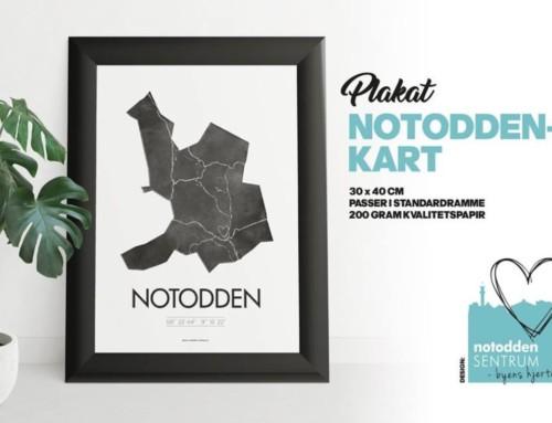 Notodden i sentrum presenterer Notodden-plakaten