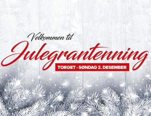 Årets julegrantenning blir søndag 2. desember